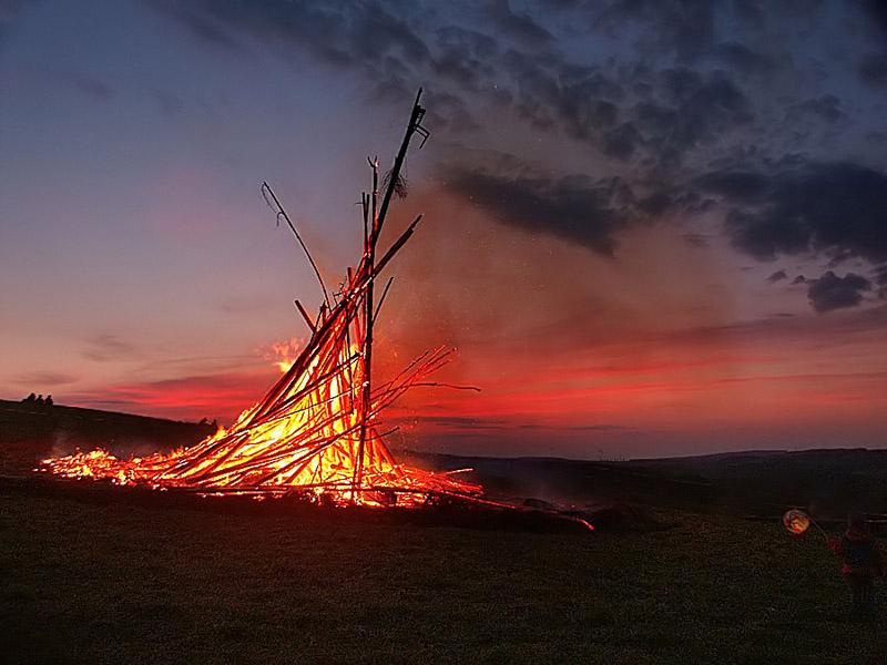 Hexenfeuer im Erzgebirge