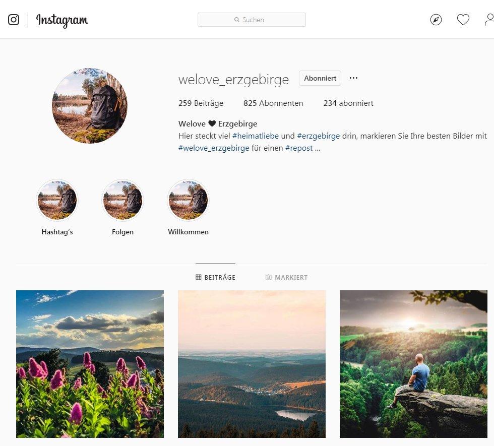 Welove ❤ Erzgebirge bei Instagram